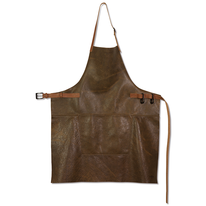 Фартук с карманом BBQ, кожа, Коричневый винтаж, арт. 551826 - фото 1