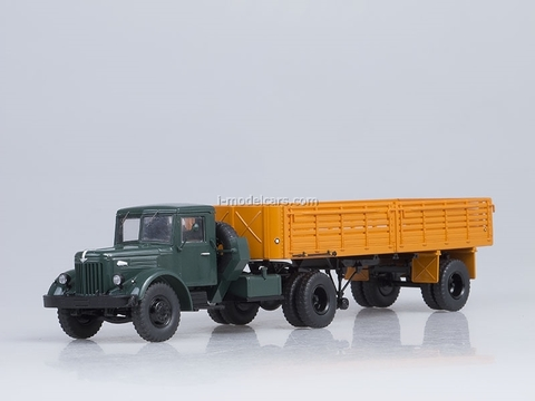 MAZ-200V and semitrailer MAZ-5215 orange Start Scale Models (SSM) 1:43