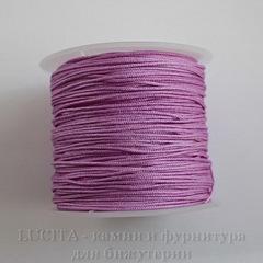 Нейлоновый шнур 1 мм (цвет - сиреневый) 35 м