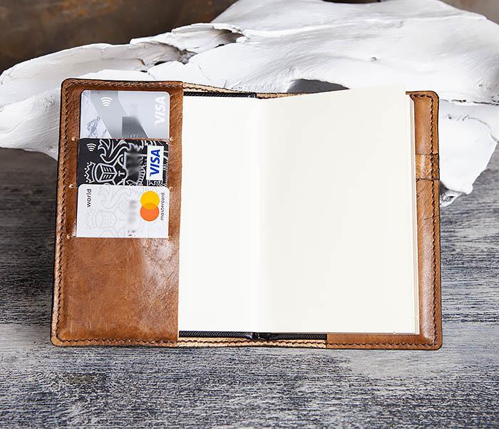 BC198 Кожаный ежедневник ручной работы «JOIN THE DARK SIDE» (A6) фото 11