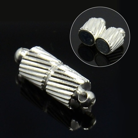 Замок для бус магнитный 15х5 мм цвет серебро