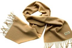 Шерстяной шарф, мужской кремовый 15902