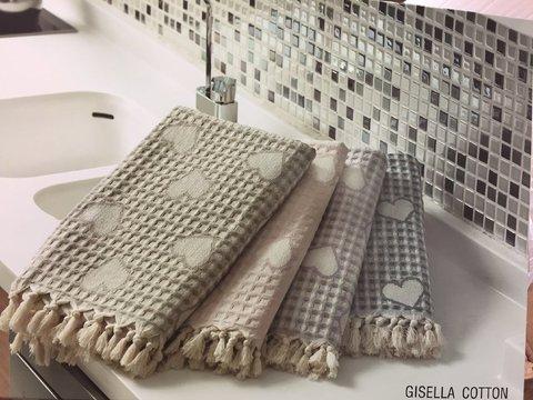 Набор вафельных полотенец GISELLA  КИСЕЛЛА 3пр 40х60 50х100 и 100х150  Maison Dor  Турция