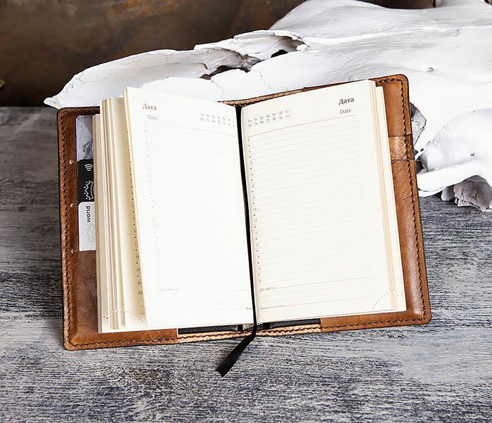 BC198 Кожаный ежедневник ручной работы «JOIN THE DARK SIDE» (A6) фото 12