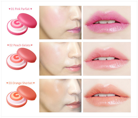 IT'S SKIN Macaron Tinted Lip and Cheek 9g [Holiday Edition] / #03 Orange Sherbet