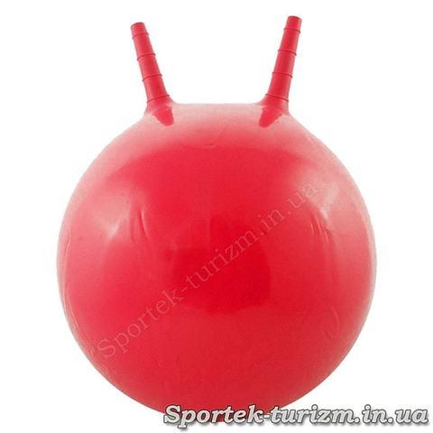 Дитячий фітбол (м'яч для фітнесу) з ручкою діаметром 45 см (червоний)