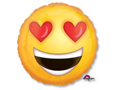 Фольгированный шар Смайл влюбленный