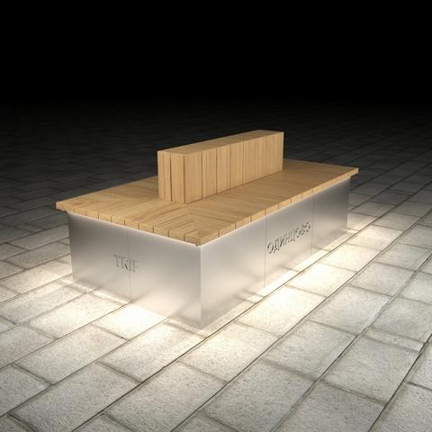 МАФ ПАБЛИК прямоугольный со спинкой, с подсветкой