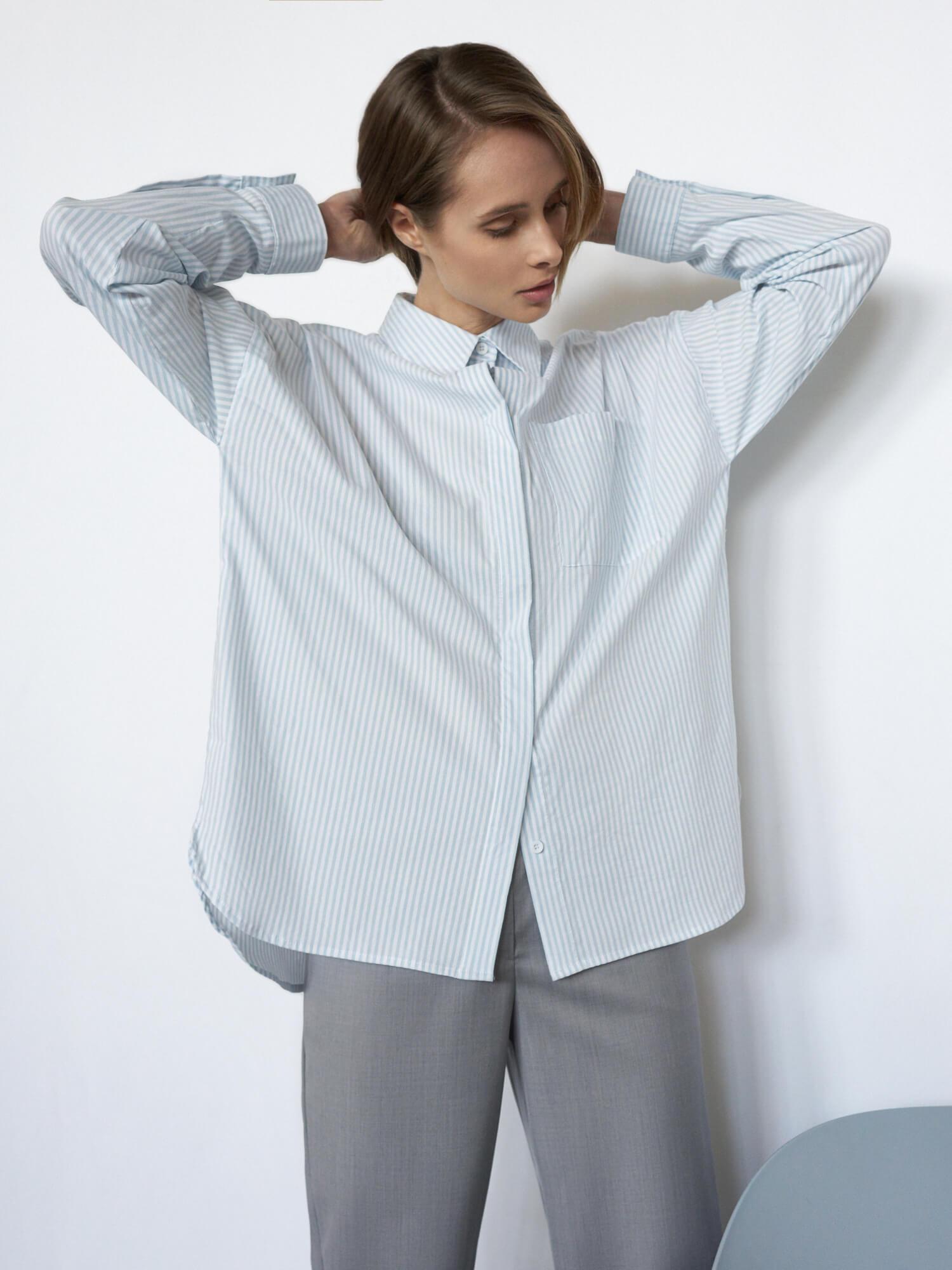 Рубашка Ray в полоску фото