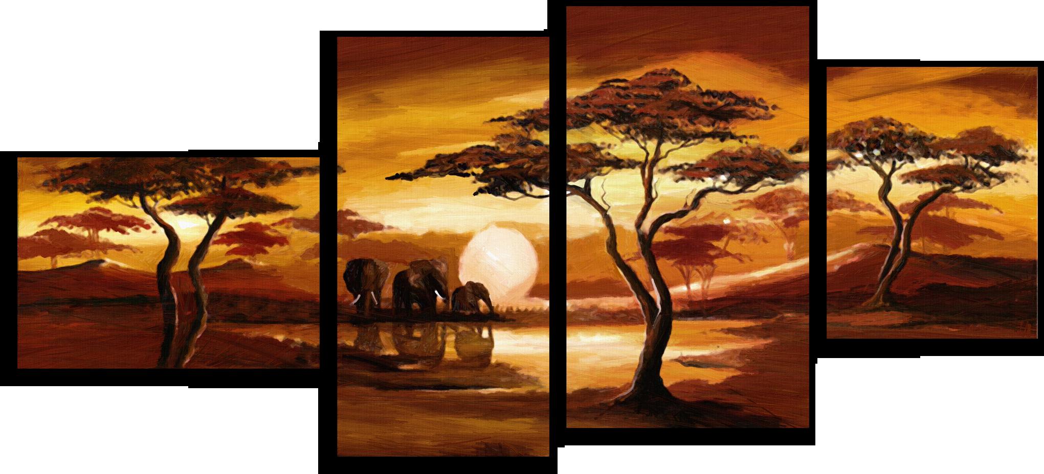 """Модульные картины Модульная картина """"Три слона"""" М22.png"""
