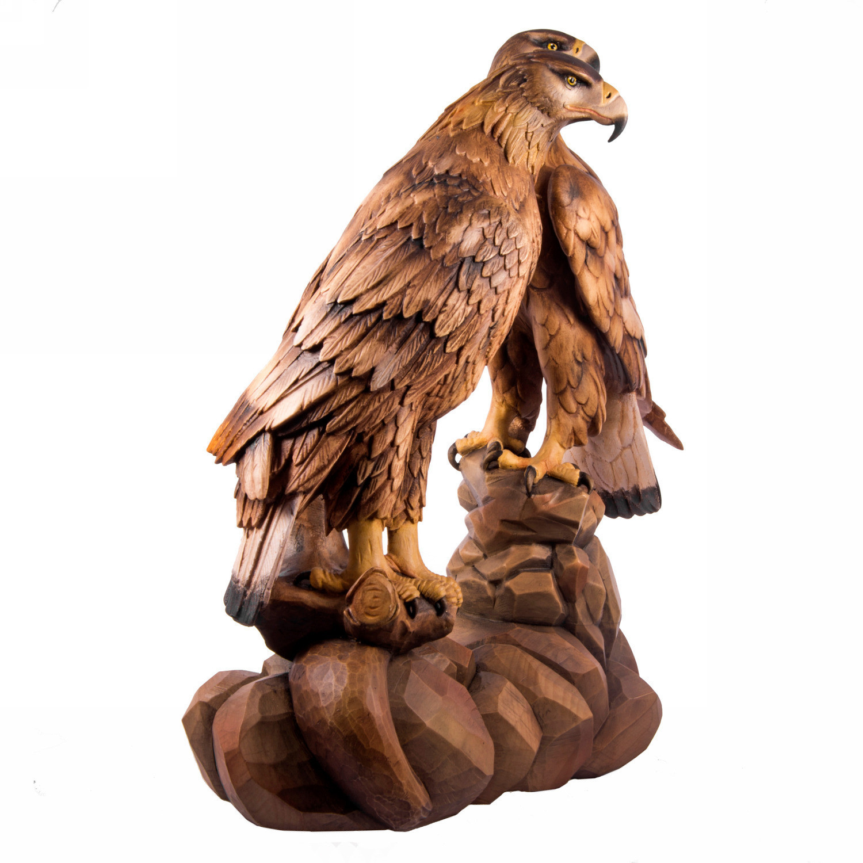 Скульптура из дерева Пара орлов