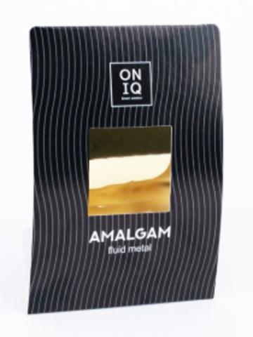 ONF-002 Фольга для дизайна ногтей. AMALGAM Fluid metal: Golden Nail Foil