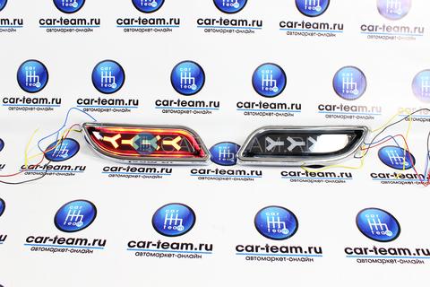 Диодные накладки бампера аля-лексус на Лада Приора 2 седан/хэтчбек, черные