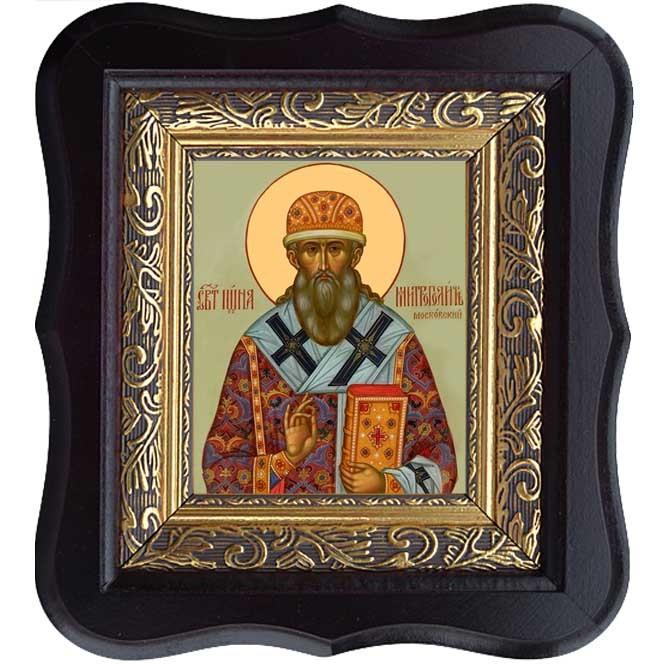 Иона Святитель митрополит Московский и всея Руси. Икона на холсте.