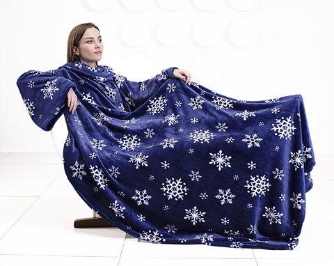Плед с рукавами «Снежинки»-2