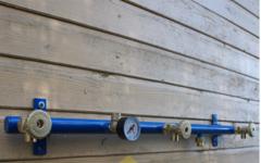 Газовая рампа Cavagna Group на 3 баллона со шлангами
