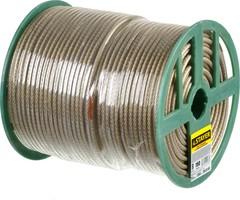 Трос стальной в полимерной оболочке, d=6,0 мм, L=150 м, STAYER