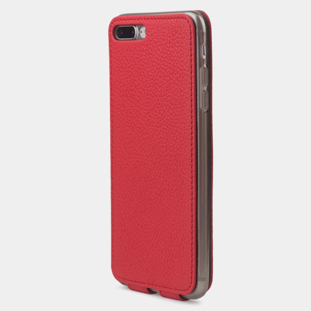 Чехол для iPhone 8 Plus из натуральной кожи теленка, красного цвета