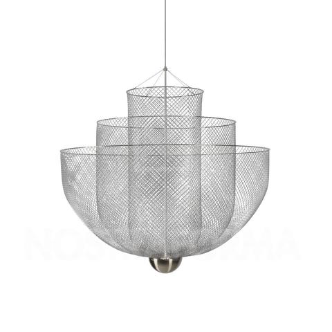 Подвесной светильник копия Meshmatics by Moooi D80 (серебряный)