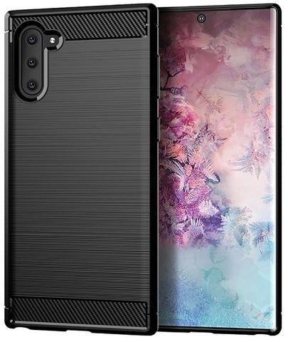 Чехол Samsung Galaxy Note 10 цвет Black (черный), серия Carbon, Caseport