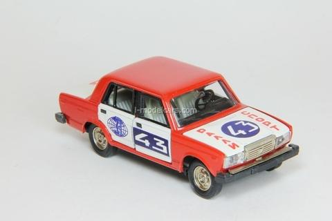 VAZ-2107 Lada Rally #43 red-white Agat Mossar Tantal 1:43