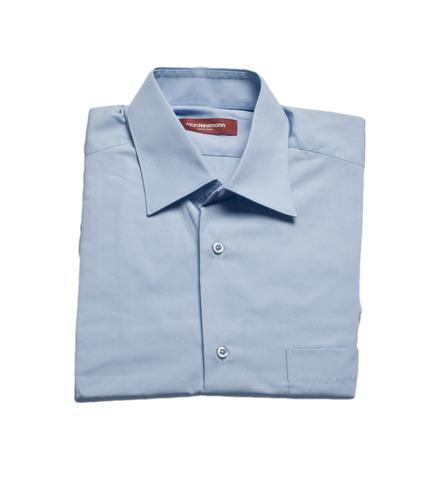 Рубашка Allan Neumann кор/рукав голубая