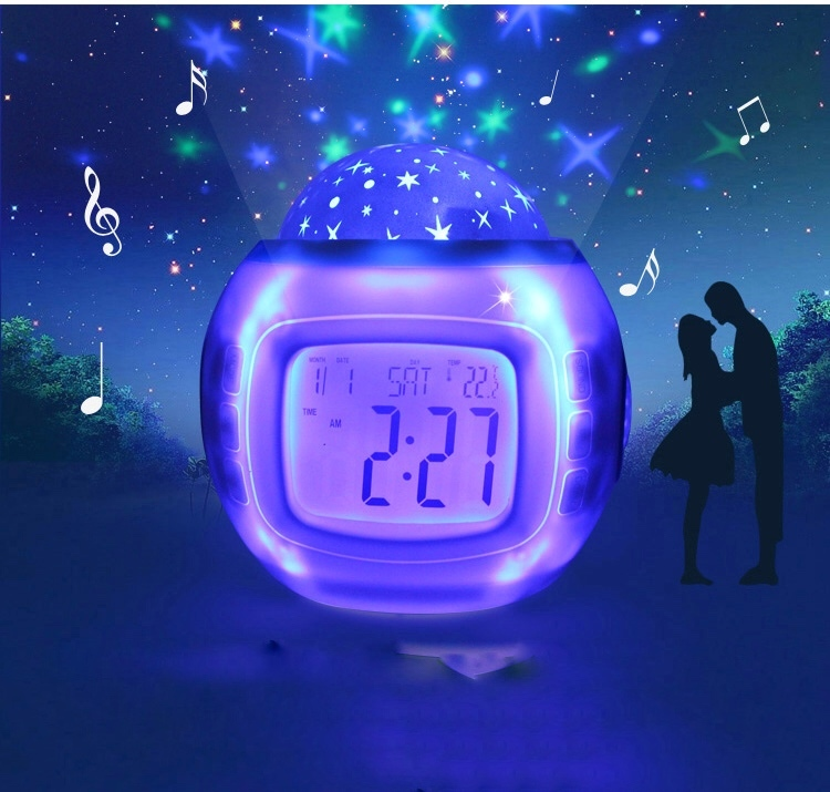 Часы-будильник Ночник-проектор Звездное небо фото