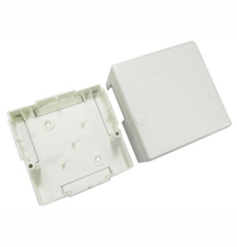 SD1 Коробка 1 постовая распред. 80x80x37мм. Цвет Белый. Ecoplast (ЭКОПЛАСТ). 72912