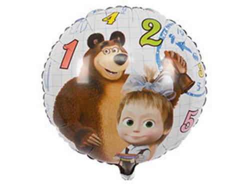Фольгированный шар 1 сентября Маша и медведь