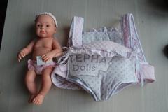 Кукла Бэби с с рюкзаком переноской, 32 см, Paola Reina