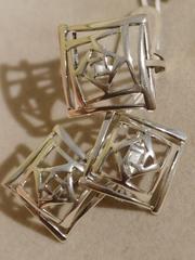 Полибия  (кольцо + серьги из серебра)