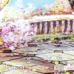 Автоматический женский зонт Magic Rain розовый сад у моря