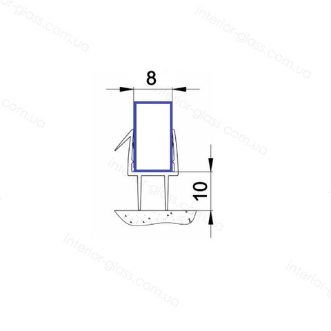 Уплотнитель для душевых кабин HDL-206