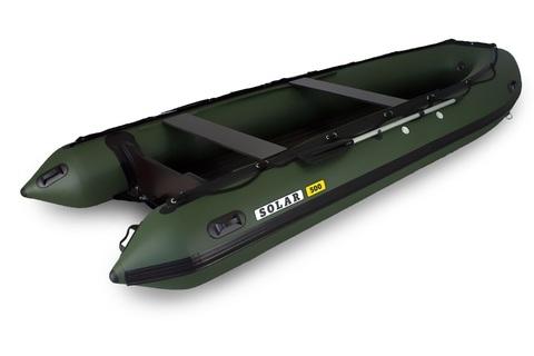 Надувная ПВХ-лодка Солар - 500 Jet Tunnel (зеленый)