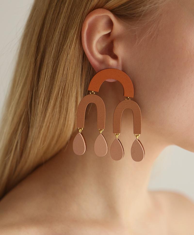 Серьги Waterfall Earrings Blush