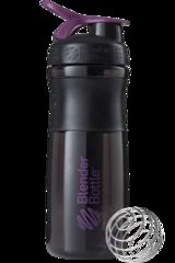 BlenderBottle SportMixer, Универсальная Спортивная бутылка-шейкер с венчиком.  Black-Plum-черный-сливовый 828 мл cat