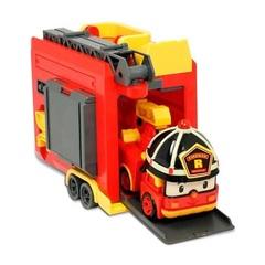 Robocar Poli Кейс с трансформером Рой 12,5 см и с гаражом (83073)