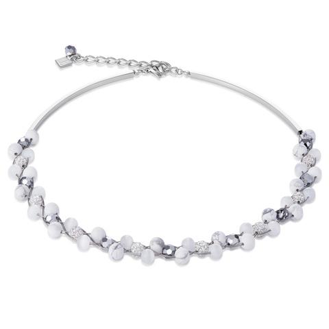 Колье Coeur de Lion 4895/10-1400 цвет белый, серебряный