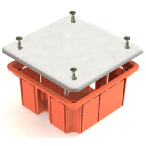 Распаячная коробка СП 92х92х40мм, крышка, IP20, инд. штрихкод, TDM