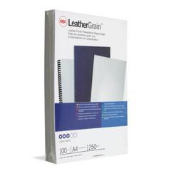 Обложки для переплета картонные GBC белые кожа, А4, 250г/м2, 100шт/уп.