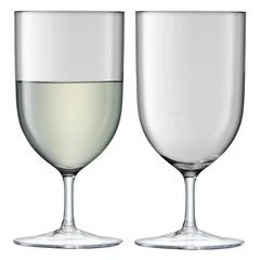 Набор из 2 бокалов для воды и вина «Hint», 400 мл серый, фото 1