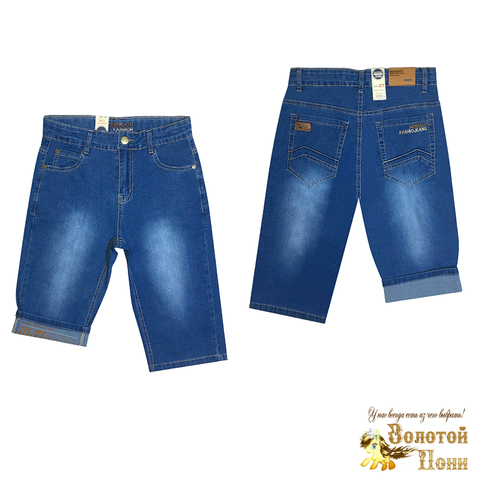 Бриджи джинсовые подростковые (140-170) 200527-В5020