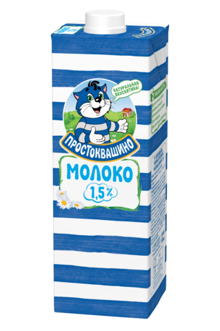"""Молоко """"Простоквашино"""" ультрапастеризованное 1,5 %, 950 мл"""