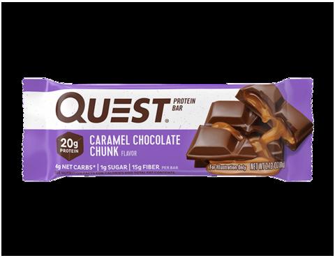 Протеиновые батончики QuestBar Caramel Chocolate (Карамель и кусочки шоколада), 1 шт