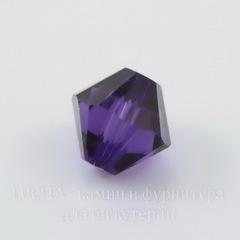 5328 Бусина - биконус Сваровски Purple Velvet 4 мм, 10 штук