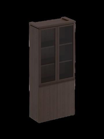 МК 343 ДА Шкаф для документов со стеклянными дверями