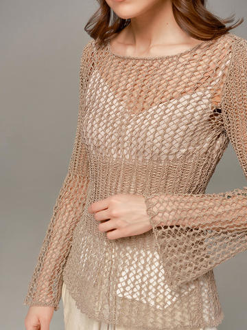 Женский свитер бежевого цвета Olmar GentryPortofino - фото 4