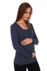 Мамаландия. Лонгслив для беременных и кормящих на запах, джинс вид 2