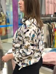 Блузка Katex рубашка карман Версаче 3/4 (В20)