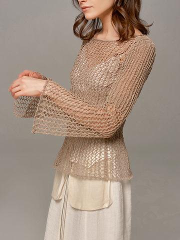 Женский свитер бежевого цвета Olmar GentryPortofino - фото 2